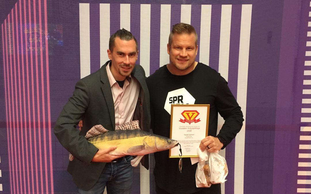 Vuoden yritysjohtaja 2018: Taneli Sutinen Superpark Oy